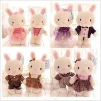 Genuine Baby bunny plush toy doll, Couple rabbit dolls for sale, birthday present, wedding gift, 5 pairs couple + free shipping