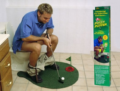 Toilet Bathroom Mini Golf Mat Set Game Potty Putter CJ29(Ch