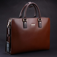 New arrival quality first layer of cowhide male briefcase handbag large bag business bag