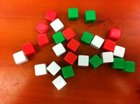 Freeshipping 100PCS 12 paintless dice blank glossy bosons props  IVU