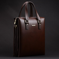 Luxury first layer of cowhide male business bag briefcase messenger bag vertical section vertical handbag
