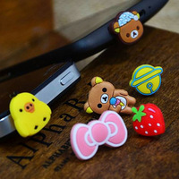 free shipping 2013 fashion C018 relaxed bear mobile phone dust plug