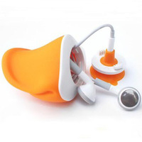 Duck mobile phone suction cup mount cell phone holder can storage earphones