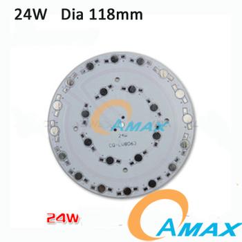 Dia 118mm 24W Aluminum Circular Plate BASE LED High Power Board PCB Heatsink