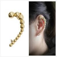 Min Order $15(Can Mix Item)NEW GOLD MULTI SPIKE EAR CUFF STUD EARRING BOHO GOTHIC PUNK
