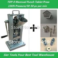 Manual punch tablet press machine+ 1pc 8mm pill model+1pc heart shape die+1pc pentagon shape die/30-50pc per hr