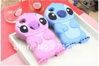 Free Shipping!Wholesale 5pcs/lot 3D Stich silicon case for iphone 5,Stitch case for stich iphone 5 case