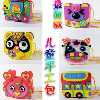 Handmade 3D multicolour cartoon eva foam backpack EVA Craft Kits Educational toys for Children 10pcs/lot Wholesale Children Gift