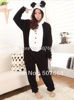 12 pcs/Lot Panda Cosplay Costume Pyjamas Hoodies Helloween Party Dress Anime Pajamas