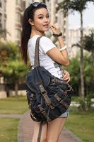 Детали и Аксессуары для сумок women denim jean bucket shoulder bags crossbody bags for women cowhide handbags designer brand rivet tassel purse S0188
