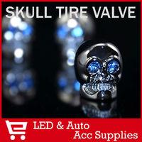4PCs/set High Quality Chrome Skull Valve Caps Tire Tyre Dust Covers Stem Car Van Truck Motorcycle JP Wheel decoration