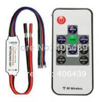 R108 RF Wireless RGB LED controller,mini led rf rgb controller,DC5-24V input,max 4A*3 channel output