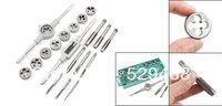 20 Pcs Steel Assorted Set Screw Extractor Taps Dies Adjustable Tap Wrench