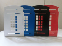 Free shipping New arrival telephone booth bookend fashion bookend bookend bookshelf single