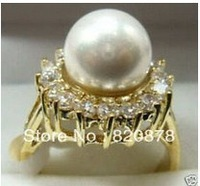 Vogue white shell pearl Jewelry ring size 7#-8#-9#Fashion jewelry