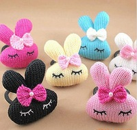 Free Shipping! Kids Cartoon Cute Rabbit Hairbands for Girl Children Hair Accessory for Wholesale knitting wool
