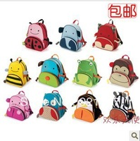 hot Korean version cute cartoon nursery baby Children's backpacks Kids bag Schoolbag cartoon canvas boy and girl free shipping
