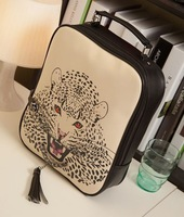 fashion leopard Women's handbags pu Tassel stylish Multifunction Backpack Shoulder  totes  designers Promotions