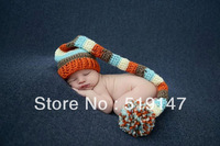 Free shipping colourful Christmas stripe style baby hat  handmade crochet photography props newborn baby cap