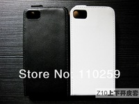 Flip Real Genuine Leather Case Cover Pouch For BlackBerry Z10 Free shipping (50 pieces/lot)
