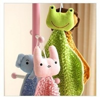 Animal series of chenille can type hand towel cleaning towels powder rabbit frog  FREE SHIPPING