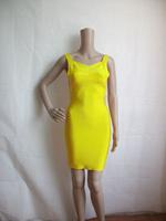 free shipping sleeveless back zipper lady's party evening dress