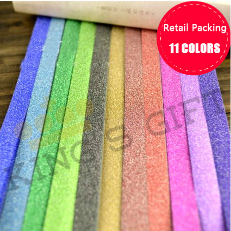 Hot!!! Candy Color Paper Wtih Glietter Lucky Star Origami Folded Paper, DIY Paper Craft Material 11 Colors(China (Mainland))