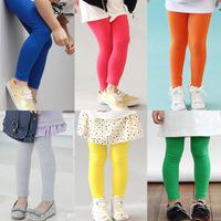2014 children's autumn clothing female child candy color solid color legging ultra elastic pencil pants