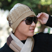 Winter knitted hat autumn and winter knitted hat male hat pocket