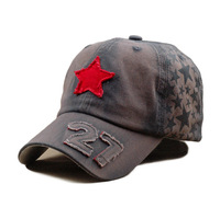 YM-H08732 Red star cap summer baseball cap sun hat female cap sunbonnet outdoor cap male sun hat