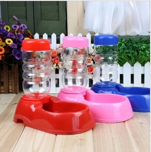 2pcs/lot free shipping 400ml Automatic waterer dog drinking water dispenser kettle water bowl of water feeding device  SS0232