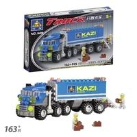Kazi City Build Series Dumper Truck Building Block Sets 163+pcs Educational child puzzle toy kids birthday gift, Free ship JM008