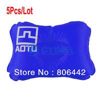 Wholesale 5Pcs/Lot Portable Outdoor Camping Deluxe Air Pillow Sleeping Pillow Mat Blue 14924