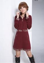 2015 plus size vestuário de moda camisa básica outono plus size primavera vestido de uma peça roupas de gordura de pessoas(China (Mainland))