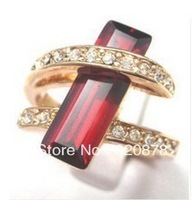 Wholesale HOT!Beautiful new lady's ruby ring Size: 7 8 9 fashion jewelry