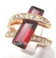Wholesale HOT!Beautiful new lady's ruby ring Size: 7 8 9 fashion jewelry