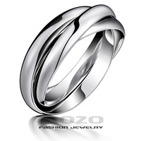 Min.order is $10 (mix order) Free Shipping Wholesale 2013 Fashion ring Women's 316L Stainless Steel rings for women Gift GJ005