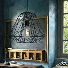 Nordic Industrial Style Hive Metal Cage Pendant Light Dining Room Lamp Dia 40cm*H 34cm(China (Mainland))