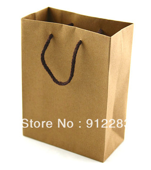 Free Shipping 20pcs 110*140mm Brown Kraft Paper Gift Bag/Shopping bag,Handle Bag #90434