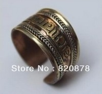 Wholesale Tribal Ethnic Nepal Silver Three-color copper jewelry ring fashion jewelry
