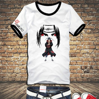 Free shipping! High quality Naruto short sleeve  T shirt Kakashi itachi sasuke gaara T-shirt