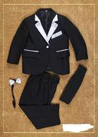 free shipping wholesale 7 sets/ lot Tuxedos Kid Complete Designer Junior Boy Wedding Suit/Boys' Attire:Jacket+Pants+Tie+Girdle