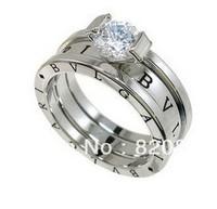 Wholesale Fashion elegance design 18K GP Crystal Ring Size 7-9 # fashion jewelry