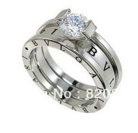 Wholesale Fashion elegance design 18K GP Crystal Ring Size 7-9 # fashion jewelry