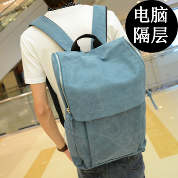 2013 Card holder man bag canvas backpack student school bag backpack male trend casual travel bag