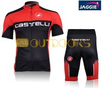 Free Shipping 2012 SCATELLI red short sleeve cycling jerseys wear clothes bicycle/bike/riding jerseys+pants shorts