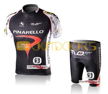 Free Shipping!! 2012 PINARELLO BLACK short sleeve cycling jerseys wear clothes bicycle/bike/riding jerseys+pants shorts