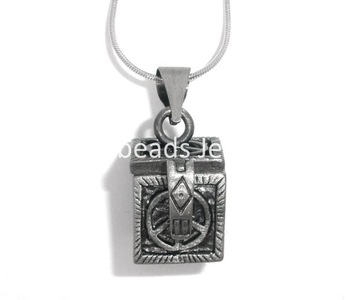Free Shipping! 2 Peace Sign Wish Boxes Charms Pendants 24x17mm (B05608)