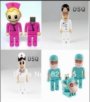 New cartoon Nurse/doctor/surgery model usb 2.0 memory stcik pen drive/gift 4-32g