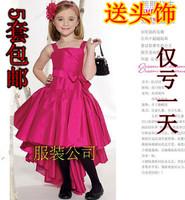 Princess dress formal dress child costume fashion evening dress child piano female child costume